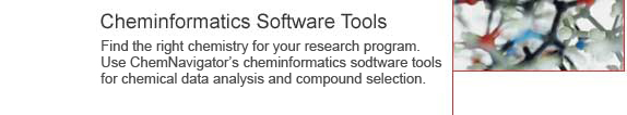 Cheinformatics Software Tools